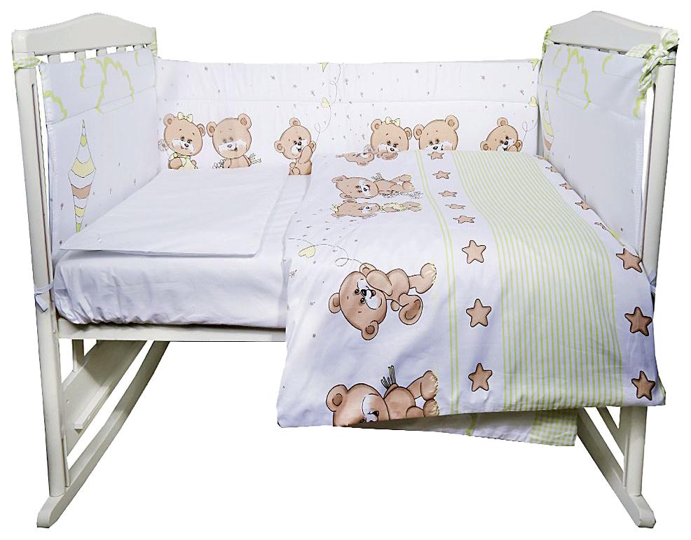 ЭДЕЛЬВЕЙС Комплект в кроватку Прогулка (4 предмета, цвет: зеленый) УТ0010271 фото