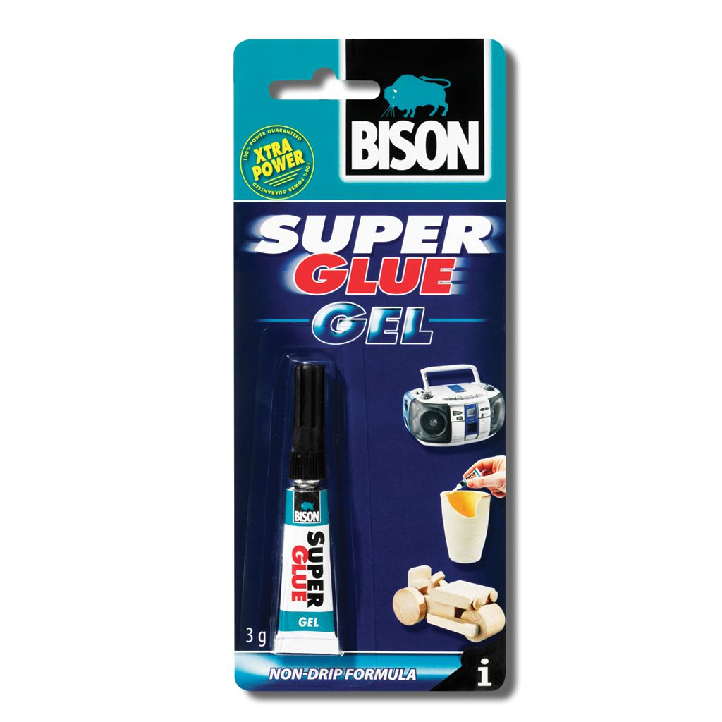 Клей BISON 6305574 SUPER GLUE GEL CRD 3G