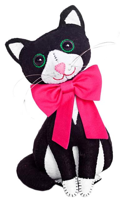 Купить Набор для изготовления игрушки из фетра с использованием ткани Мурлыка ПФЗД-1012 Перловка,