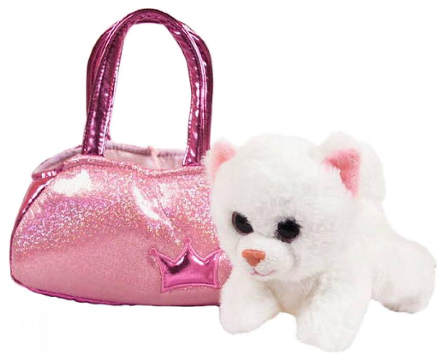 Купить Мягкая игрушка ABtoys Котенок 16см, Мягкие игрушки животные