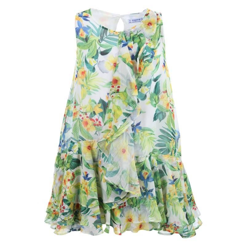 Купить Платье MAYORAL, цв. зеленый, 116 р-р, Детские платья и сарафаны