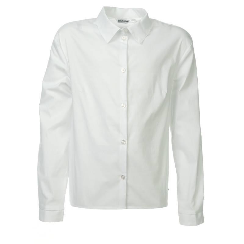 Купить 661, Блузка UNONA D'ART, цв. белый, 152 р-р, Детские блузки, рубашки, туники