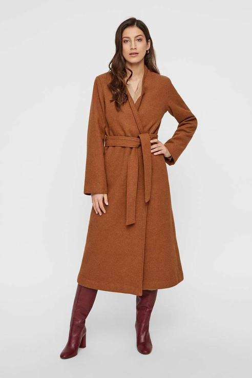 Пальто женское Y.A.S 26015376 коричневое S.