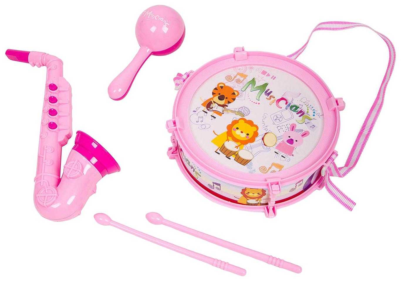 Купить Набор музык. инструментов 5 предметов, серия Моей малышке, PAC 24х26 см, арт.M7663-6., Yako Toys, Детские музыкальные инструменты