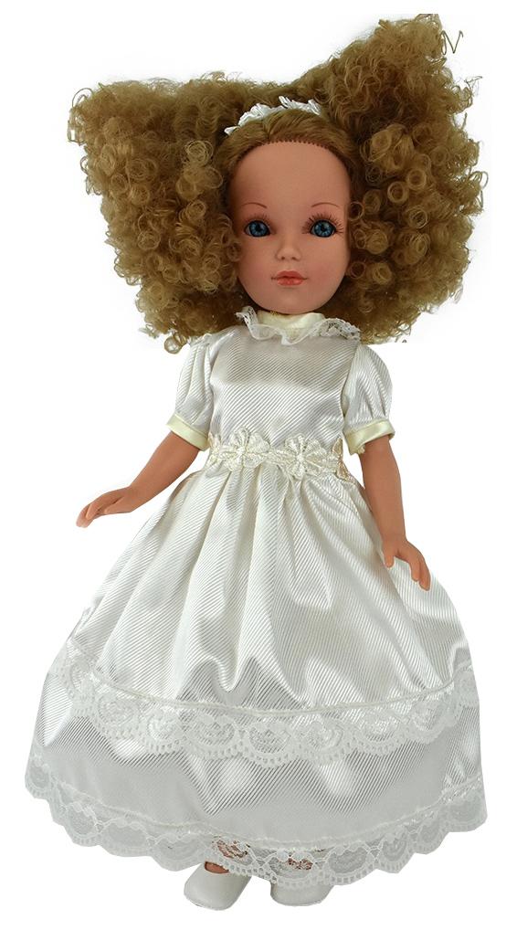 Купить Кукла Мари кудрявая блондинка, в белом платье (в подарочной коробке), 41 см, Vidal Rojas Dolls,