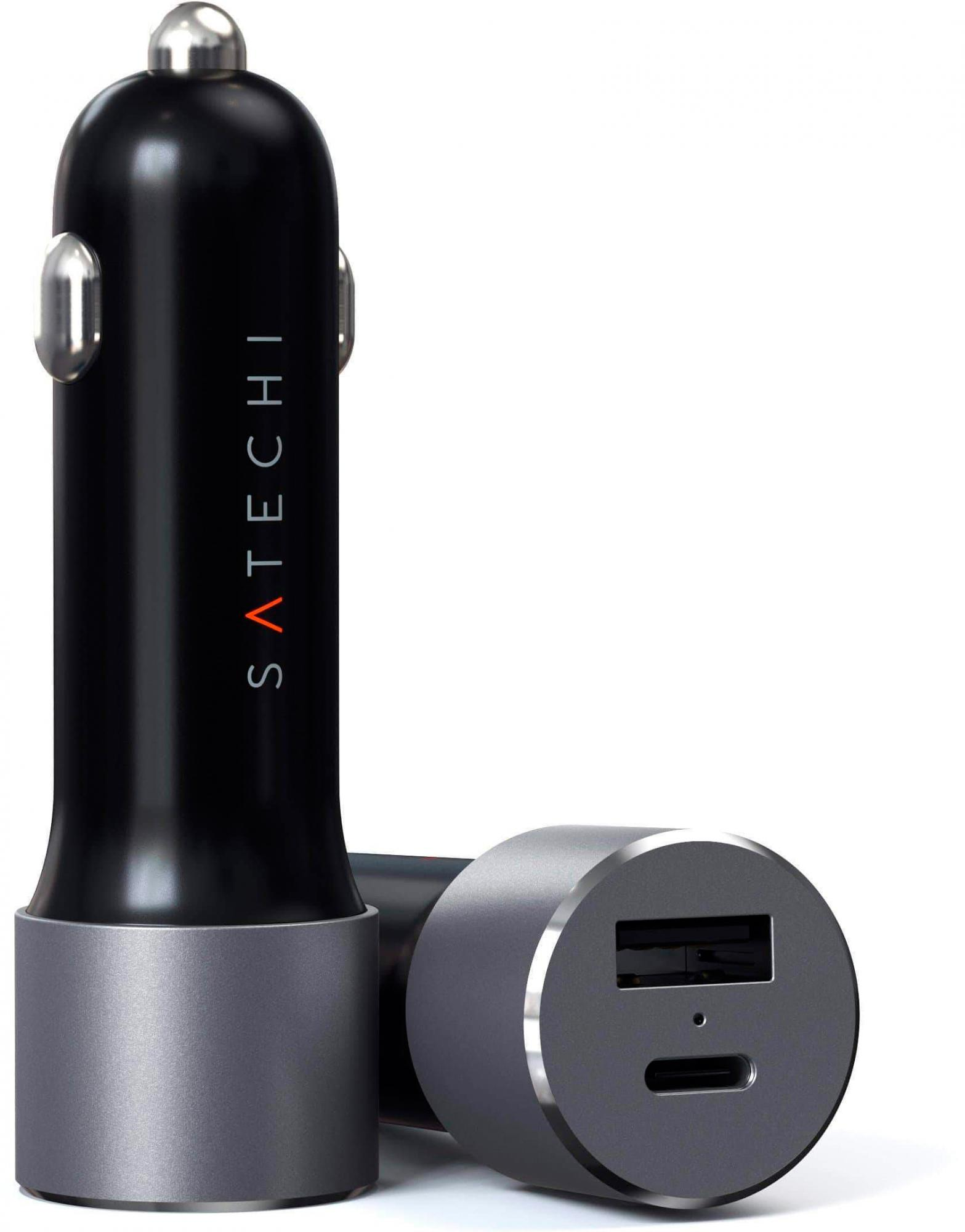 Автомобильное зарядное устройство Satechi 72W Type-C PD ST-TCPDCCM (Space Grey)