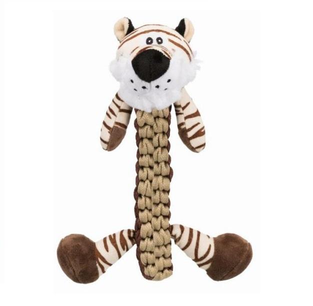 Мягкая игрушка для собак TRIXIE Тигр, коричневый, 32 см фото