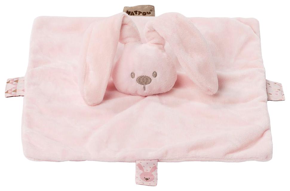 Купить Игрушка мягкая Nattou Doudou (Наттоу Дуду) Lapidou Кролик pink 878067,