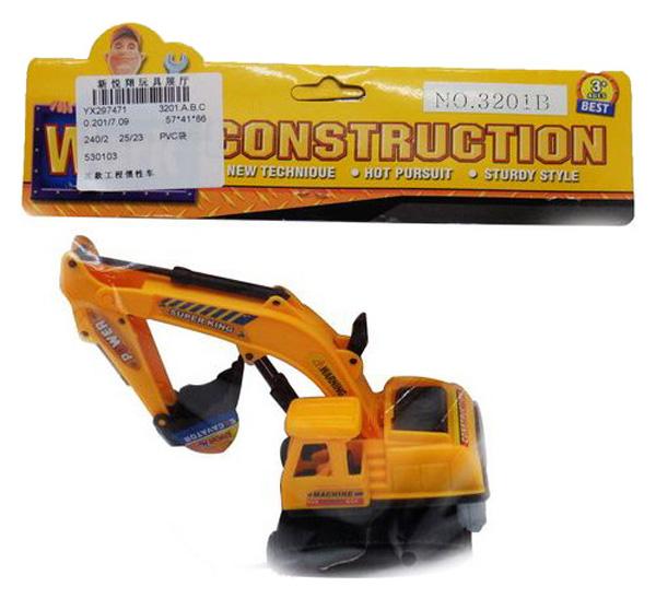 Купить Машинка Экскаватор , пластмассовая, инерционная, 21x21x7см, Junfa toys, Строительная техника