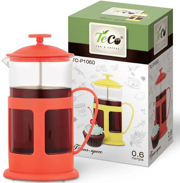Френч-пресс Diolex TECO TC-P1060-R 0.6 л