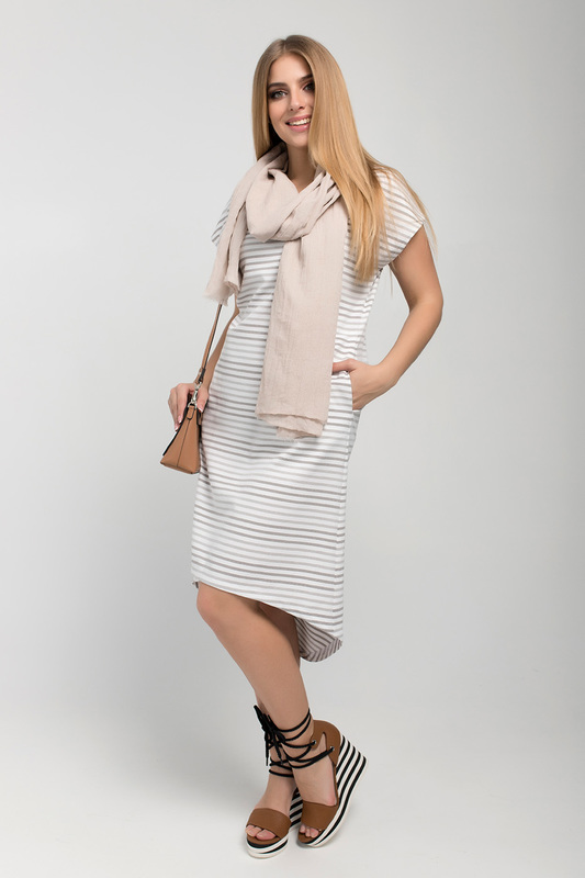 Платье женское ELISEEVA OLESYA 39353 белое 48 RU фото