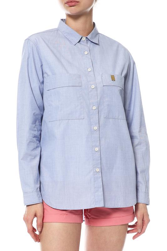 Рубашка женская FOLK WFW2460S.BLUE голубая M