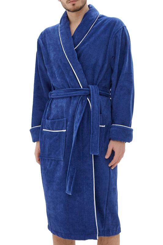 Халат махровый Мужской Luisa Moretti 6070 royal синий XL