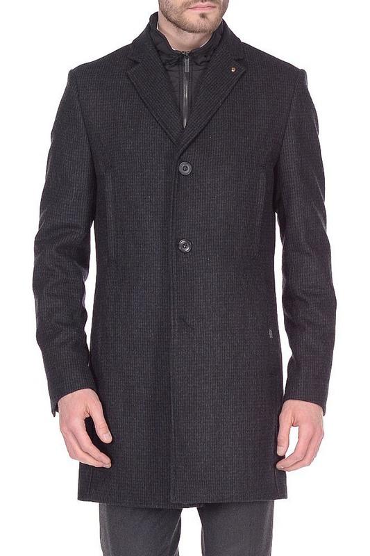 Пальто мужское BAZIONI 5046-4M GRAVEL серое 52 RU
