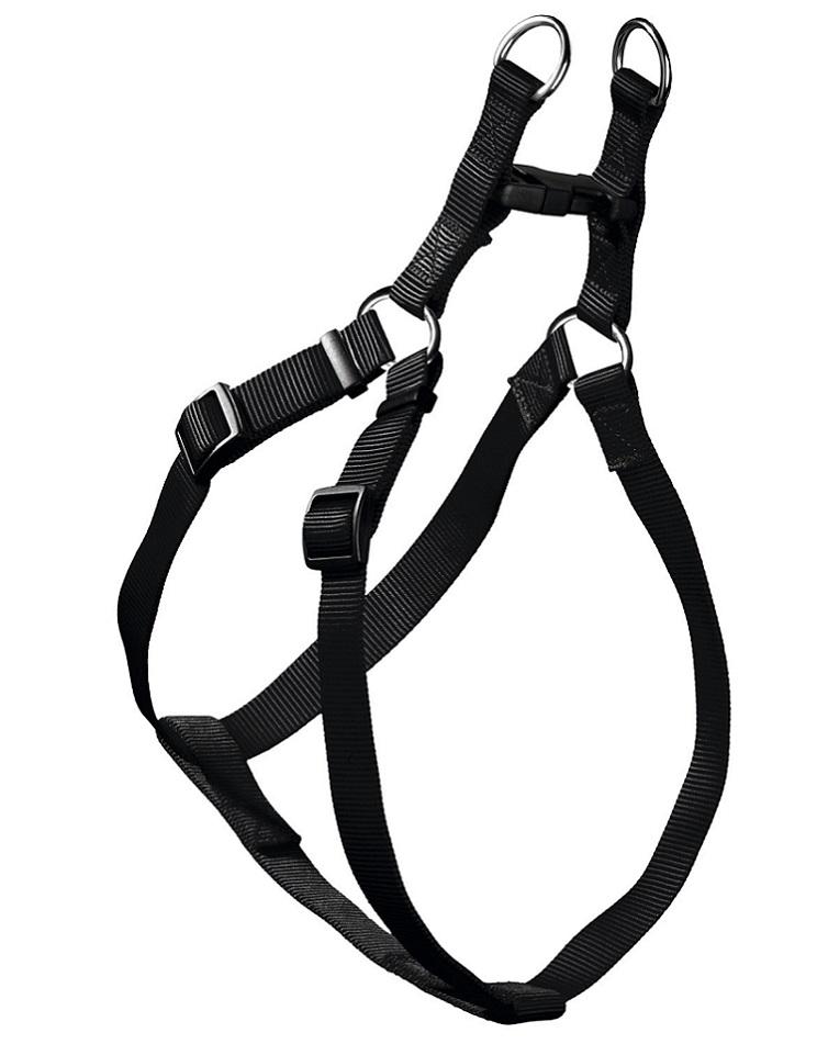Шлейка для собак HUNTER Smart Ecco Квик, нейлон, черная, S, 33-45/35-49 см