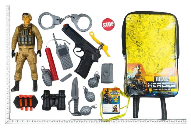 Игровой Набор Junfa Toys Военный Wg-A7076 В Рюкзачке 16 Предметов