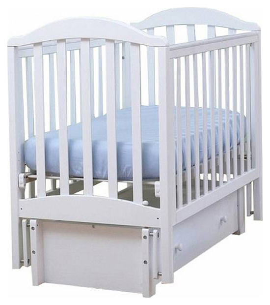 Купить Детская кровать Лель Лютик АБ 15.3, Белый, Классические кроватки