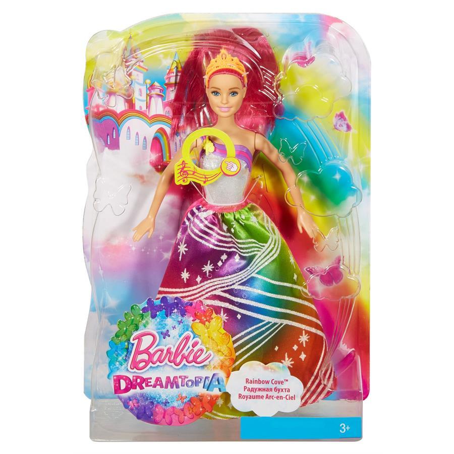 Купить Кукла Barbie Радужная принцесса с волшебными волосами, DPP90 Mattel, Куклы Barbie