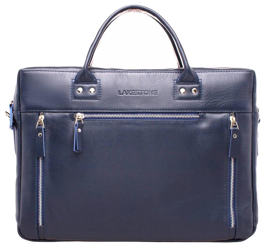 Портфель мужской кожаный Lakestone Barossa синий фото