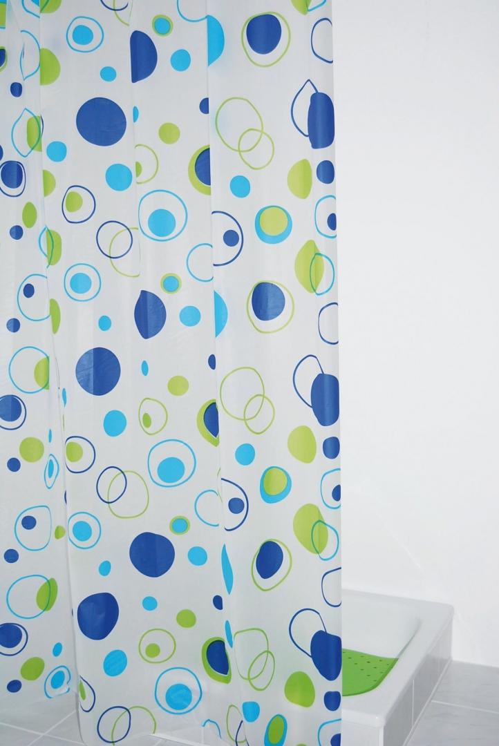 Штора для ванных комнат Kreise синий/голубой 180Х200,