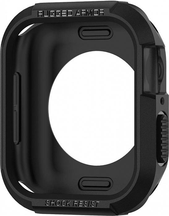 Чехол Spigen Rugged Armor (062CS24469) для Apple Watch 4 44mm (Black) фото