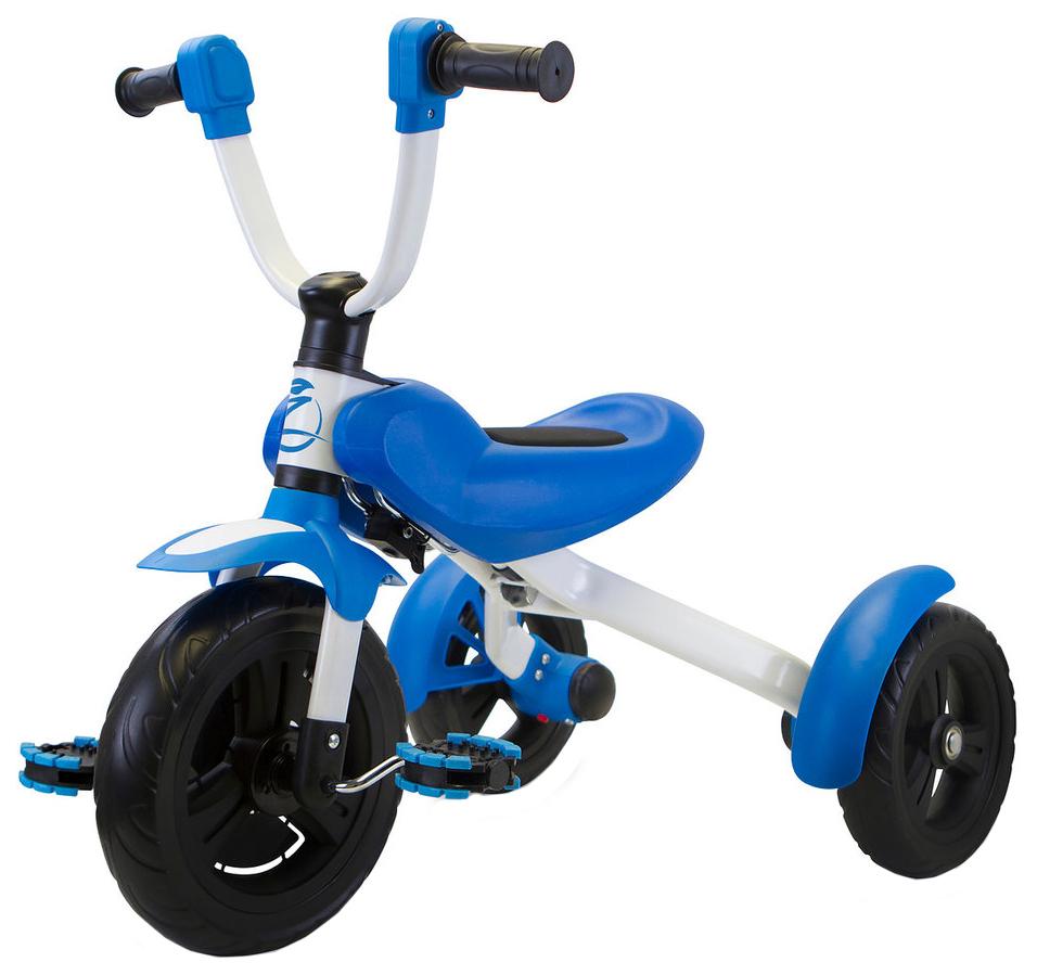Купить Складной Велосипед трехколесный Zycom Ztrike бело-синий, Детские трехколесные велосипеды