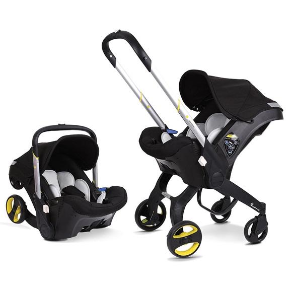 Детское автокресло-коляска Foofoo (Doona) 2 в 1 Цвет черный