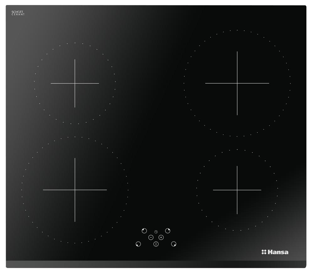 Встраиваемая варочная панель индукционная Hansa BHI68317 Black