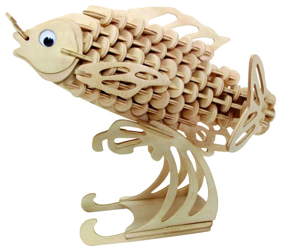 Купить Модель деревянная сборная Wooden Toys Карп, Модели для сборки
