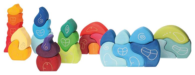 Купить Фэнтези-кубики Grimms Деревня гномов 07300, Развивающие кубики