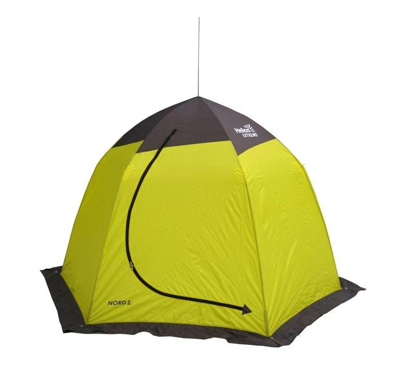 Палатка-автомат Helios Nord двухместная желтая