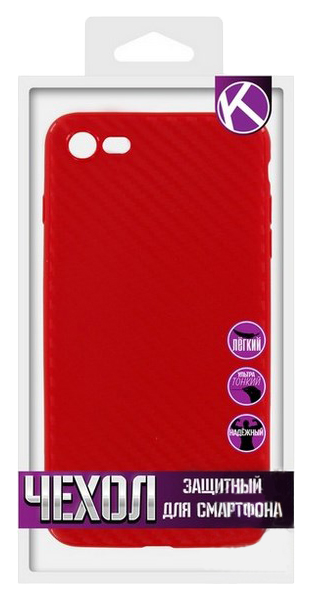 Чехол Krutoff для iPhone 7/8 Red