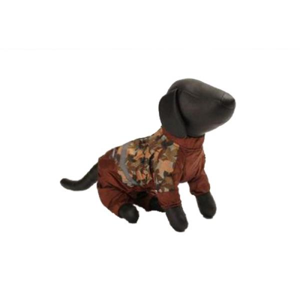 Комбинезон для собак Зоо Фортуна XXL мужской, коричневый, оранжевый, длина спины 65 см