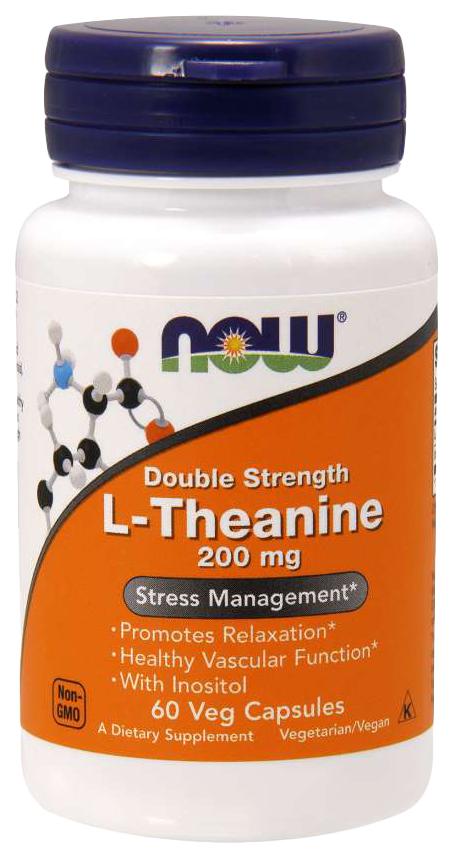Купить Для нервной системы NOW L-Theanine 200 мг 60 капсул