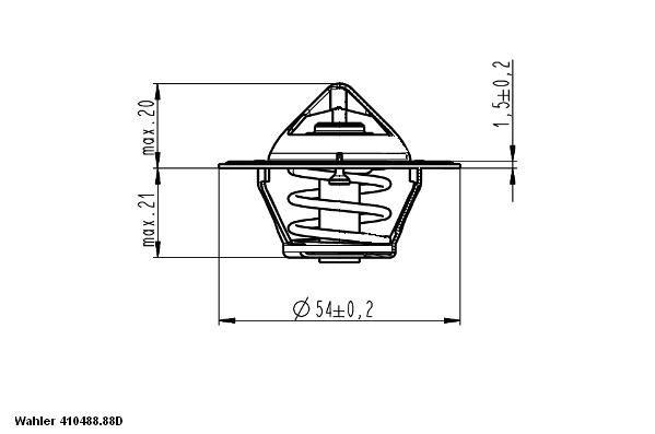 Термостат WAHLER 410488.88D