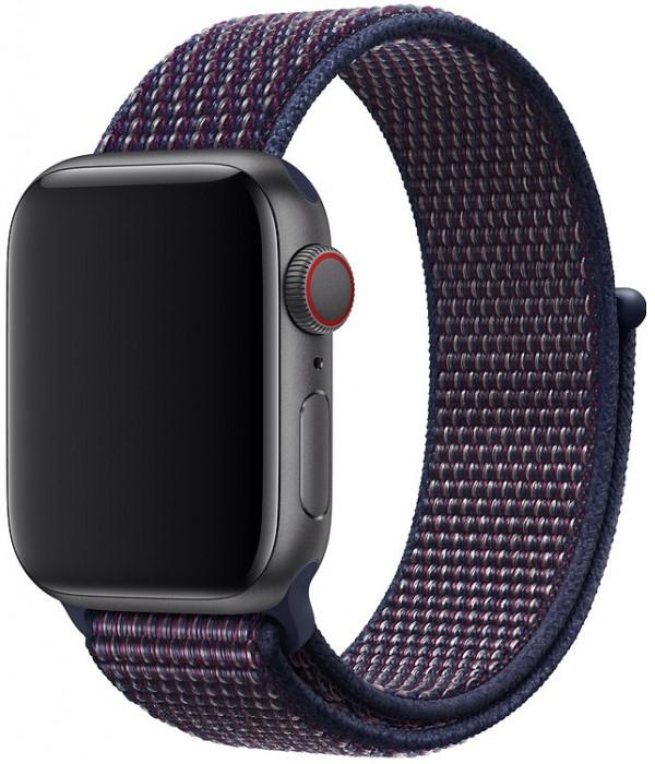 Ремешок COTEetCI W17 Magic Tape (WH5225-DL) для Apple Watch Series 2/3/4 38/40mm (Indigo)