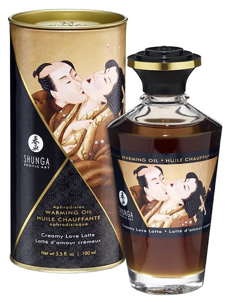 Массажное интимное масло с ароматом сливочного латте
