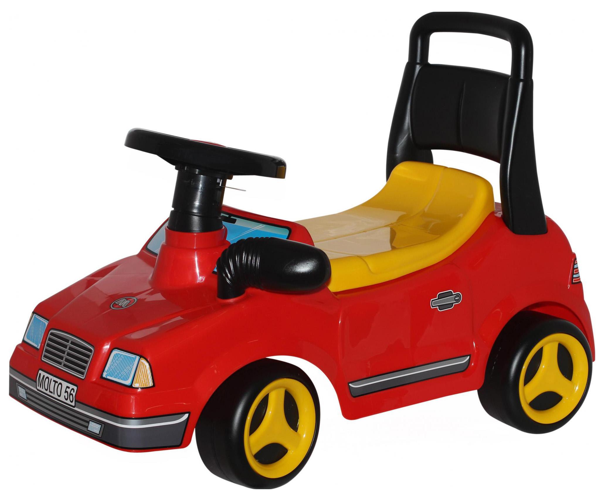 Машина-каталка Полесье спортивная Вихрь №2 Красный без звукового сигнала