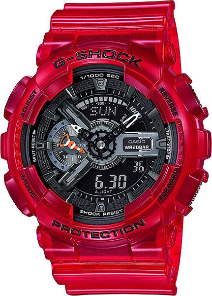 Японские наручные часы Casio G-Shock GA-110CR-4A с хронографом фото