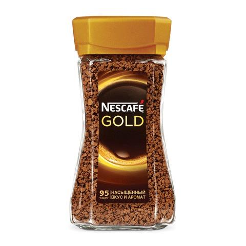 Кофе крепкий Nescafe Gold натуральный растворимый сублимированный 190 г