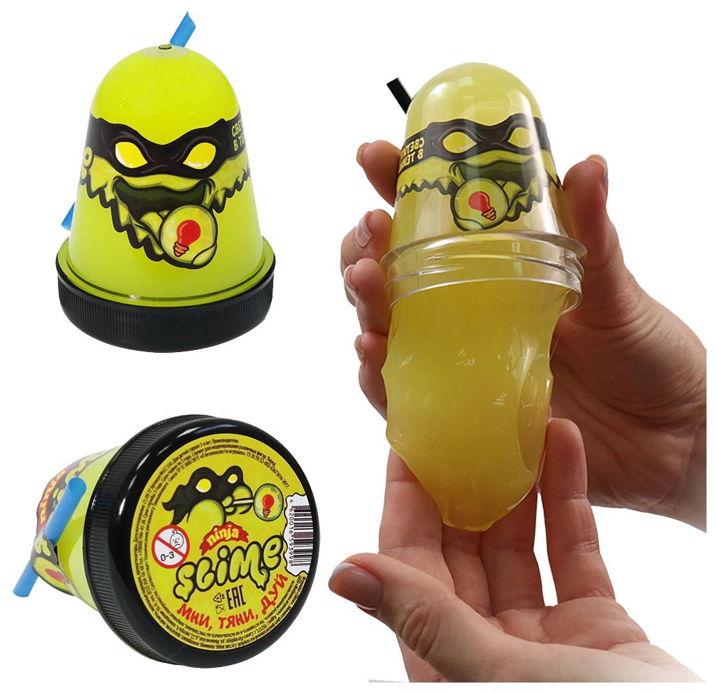 Купить Игрушка SLIME S130-19 Ninja светится в темноте, желтый,