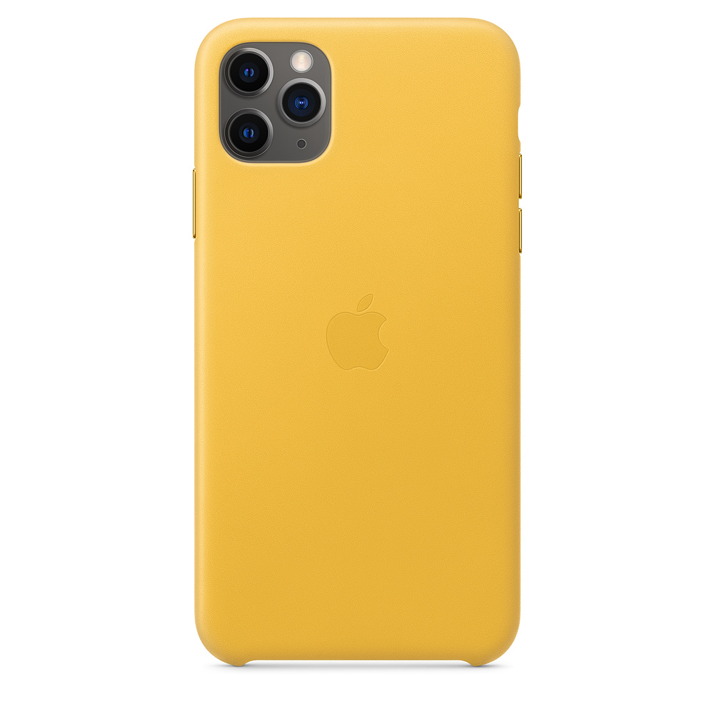 Чехол Apple для iPhone 11 Pro Max Leather Case - Meyer Lemon