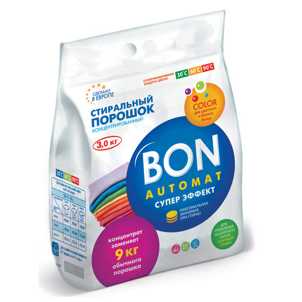 Порошок для стирки Bon супер эффект 3 кг BN-128