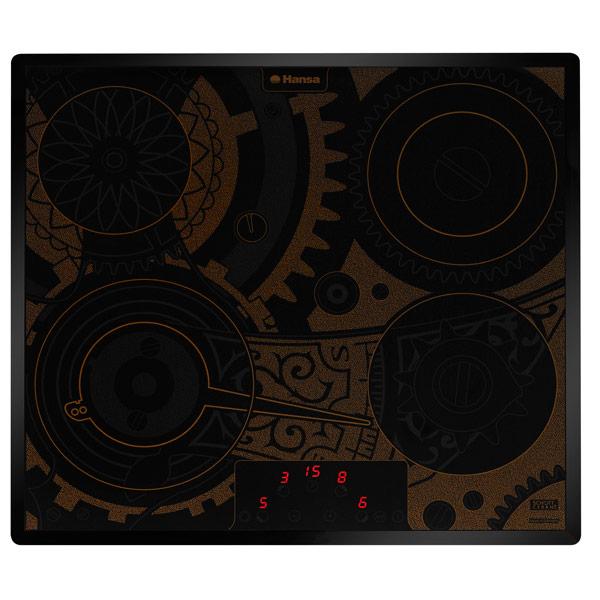 Встраиваемая варочная панель электрическая Hansa BHC63505 Brown/Black