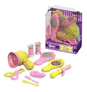 Купить Парикмахерский набор с феном (цветной), Парикмахерский набор с феном (цветной) (10 пред в блистере), НОРДПЛАСТ, Детские наборы парикмахера