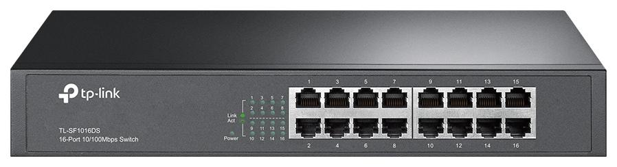 Коммутатор TP LINK TL SF1016DS Black