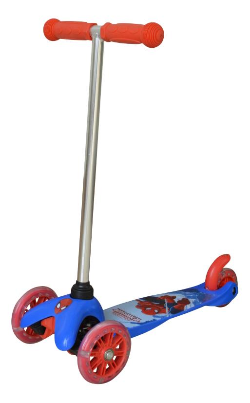 Купить Самокат трехколесный 1 Toy Marvel Spider-Man Т58417 красный-синий, Самокаты детские трехколесные