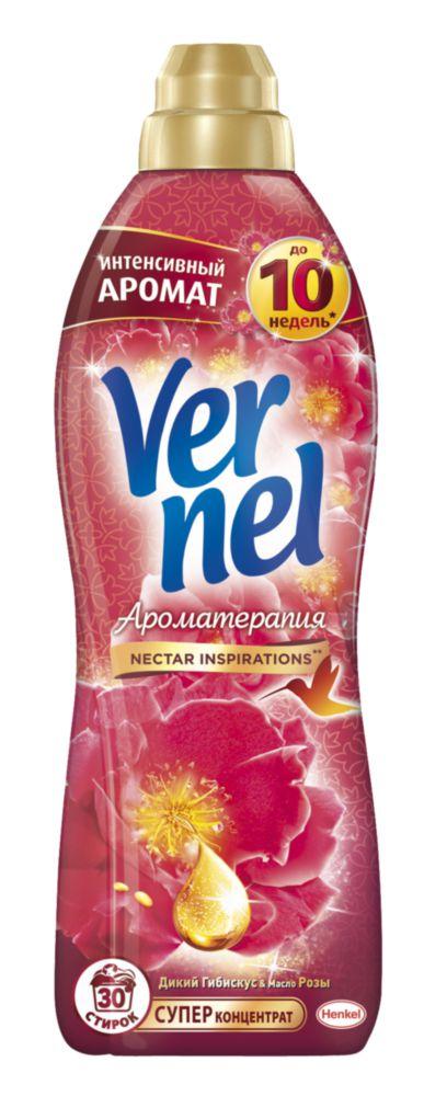 Ополаскиватель для белья Vernel ароматерапия гибискус и роза 0.91 л