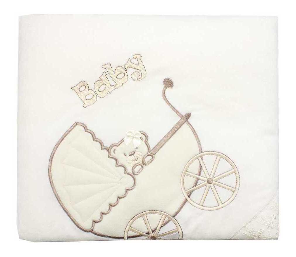 Одеяло детское Осьминожка Коляска с мишкой