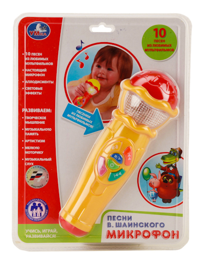 Купить Микрофон, Музыкальная игрушка Умка Игрушечный микрофон,